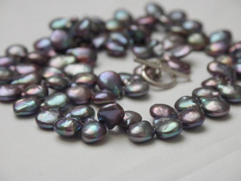 Black Pearl jewelry pearl necklace extravagant drop beads image 0