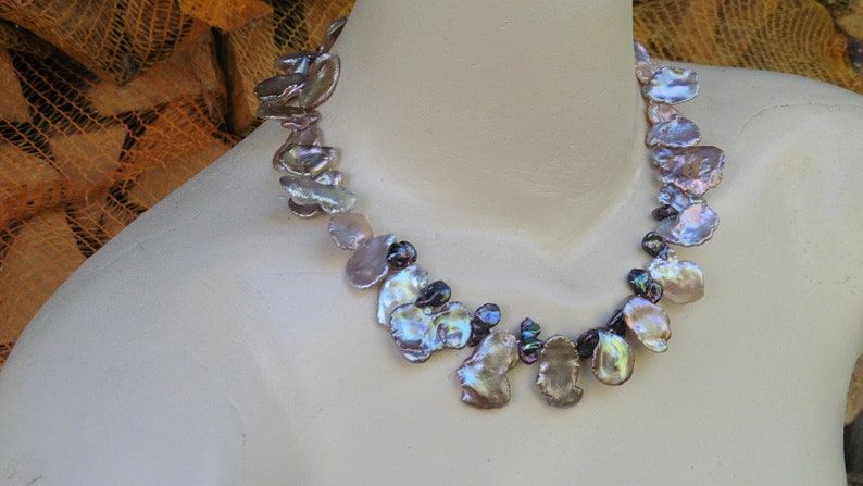 Pearl necklace authentic and decorative from Keshi Pearls 30mm image 0