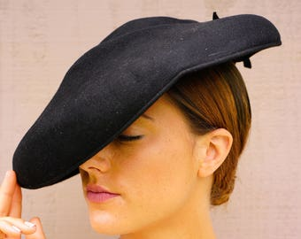 Vintage Womens Hat, Vintage Hat, Vintage Wide Brim Hat, Vintage Hat, Vintage millinery, Casablanca Hat, Vintage Cartwheel Hat