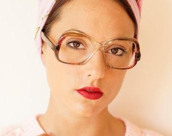 Vintage Eyeglass 1970s Retro Frames By Rivera New Old Stock Glasses Multicolor Frames Amazing