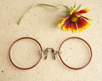 e9bc2b4da9e8 Vintage Antique Pince Nez eyeglass New Old Stock 1900s Gold filled by  Shuron Rare color 12k 1 10 gold filled