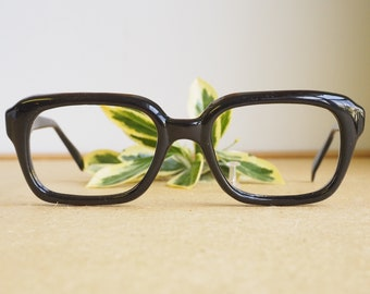 80642020fd23f Vintage Eyeglass 1960s glasses Frames  Eyeglasses Hipster Arnel Geek Thick  Made In Italy dark Dark Brown New Old stock