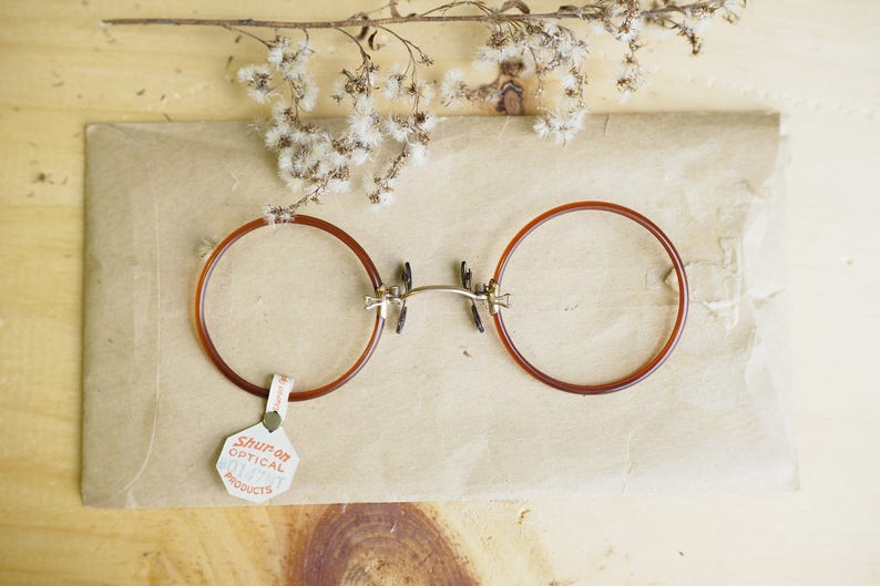 6ae558f86e2b Vintage Antique Pince Nez New Old Stock 1900s Gold filled by