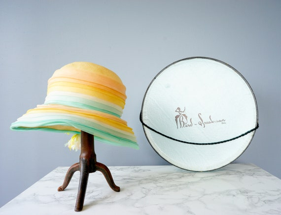 Vintage Christian Dior Bucket with Box, 1950s-60s