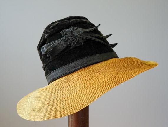 Vintage Straw Boater Hat, 1930s-1940s Hat, Vintag… - image 5