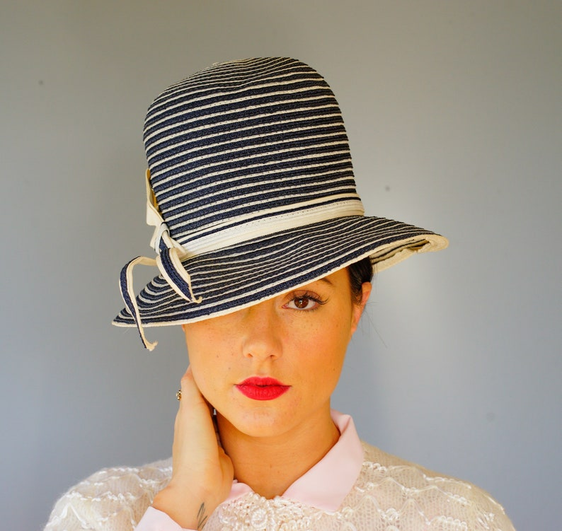e70f3742 Vintage Straw Hat by Yolie Vagabond Hat Vintage Hat Mod | Etsy