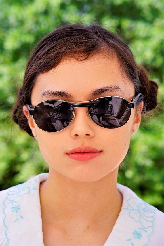 2 Paris Quality Sunglasses Vintage Retro Splatter Paint Multi Colors New 80s UV