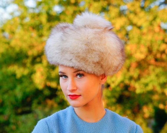 Vintage Fur Beret Hat, Vintage Tam Hat, 1950s-60s