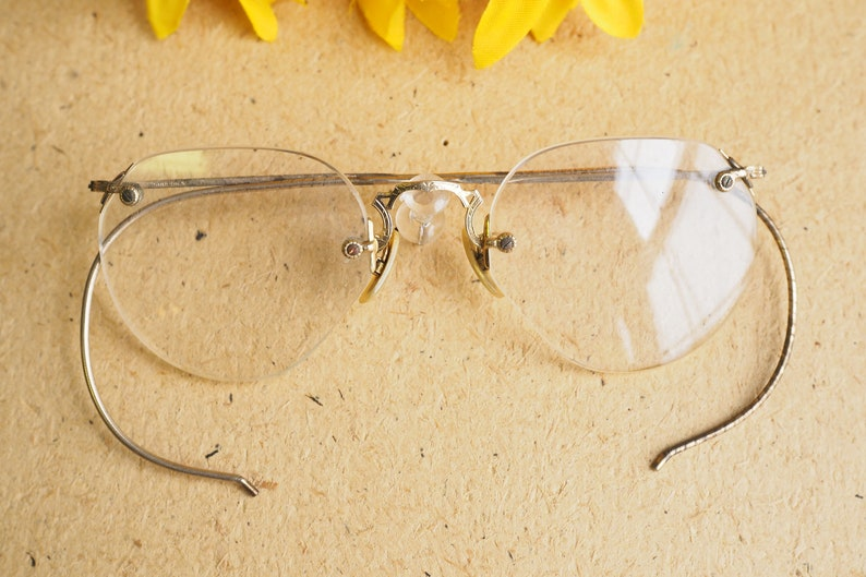 8d853886029 Vintage Eyeglasses 1920s Spectacles Semi-Round