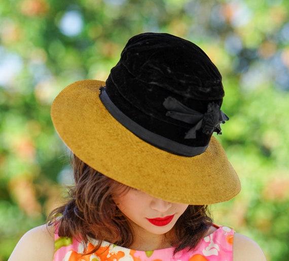 Vintage Straw Boater Hat, 1930s-1940s Hat, Vintag… - image 4