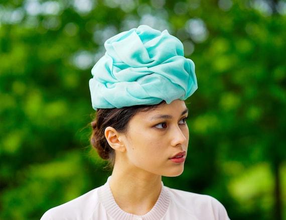 Vintage Christian Dior Turban Hat, 1960s Dior Hat,