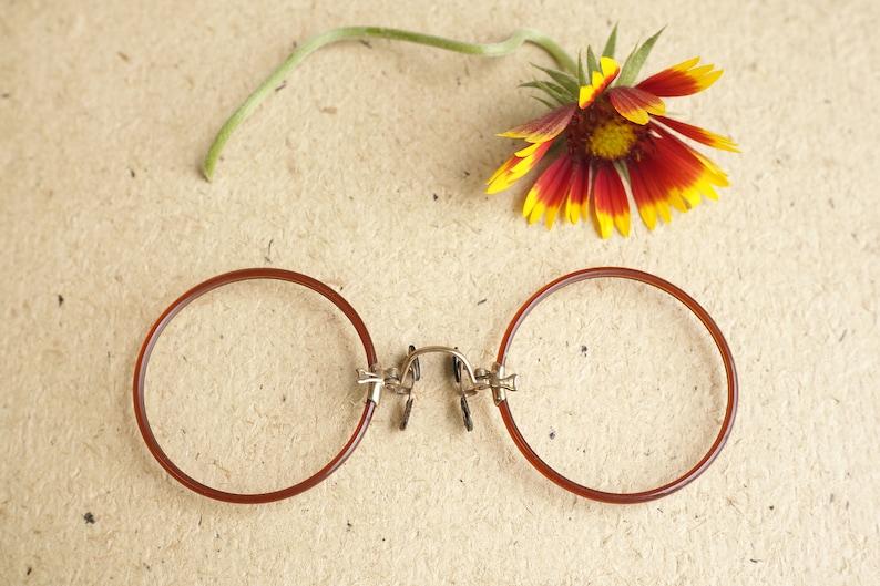f0fc3606e620 Vintage Antique Pince Nez eyeglass New Old Stock 1900s Gold