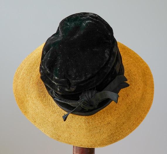 Vintage Straw Boater Hat, 1930s-1940s Hat, Vintag… - image 7