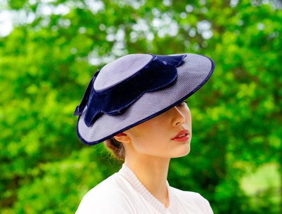 Vintage Hattie Carnegie Cartwheel Hat with Box, 19