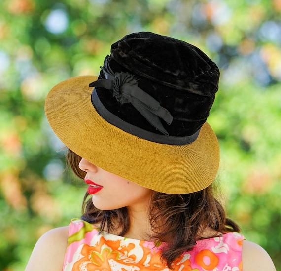 Vintage Straw Boater Hat, 1930s-1940s Hat, Vintag… - image 2
