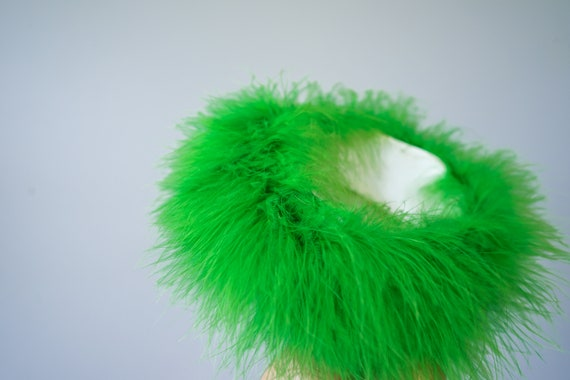 Vintage Marabou Feather Hat Hand Muff Set, 1950s … - image 6