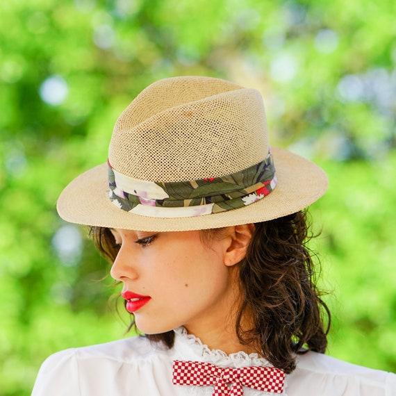 Vintage Straw Panama Hat, Vintage Hat, 1970s Hat,… - image 2