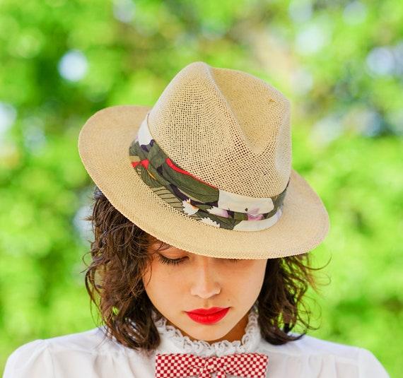 Vintage Straw Panama Hat, Vintage Hat, 1970s Hat,… - image 4