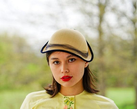 Vintage Bonnet Hat, Half Hat, Vintage Hat, 1940s-5