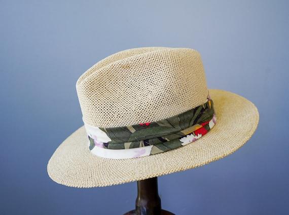 Vintage Straw Panama Hat, Vintage Hat, 1970s Hat,… - image 6