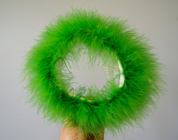 Vintage Marabou Feather Hat Hand Muff Set, 1950s … - image 7