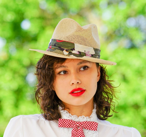 Vintage Straw Panama Hat, Vintage Hat, 1970s Hat,… - image 3