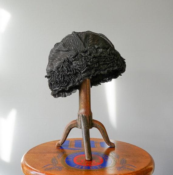 Antique Victorian Boudoir Cap, 1910s-1920s Hat, A… - image 8