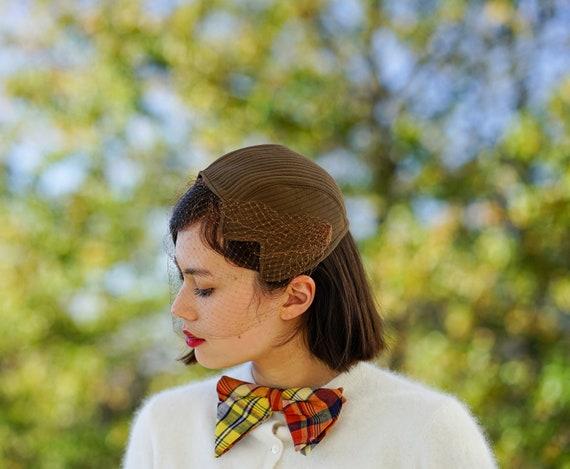 Vintage Half Hat with Veil, Vintage Hat, 1950s-60s