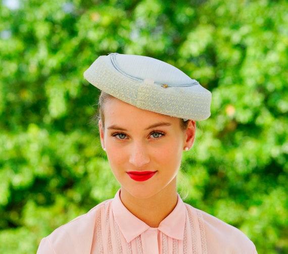 Vintage Cartwheel Hat, Saucer Hat, 1940s Hat, Wide