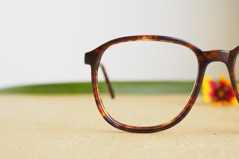 Vintage Eyeglasses 1980s/Glasses/New Old Stock/hipster/disco/frames/Dark tortoise shell  By POLO Ralph Lauren Made In Canada