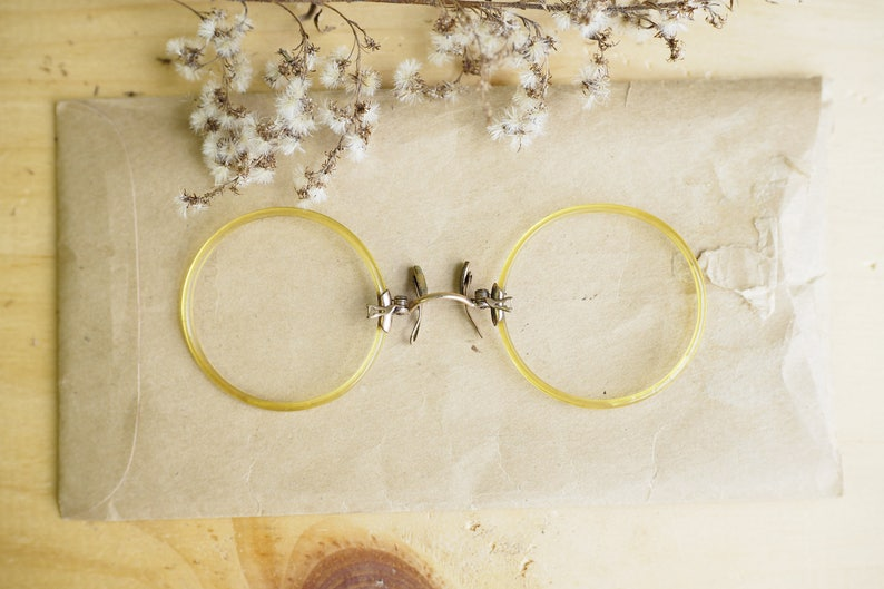b818737afb43 Vintage Antique Pince Nez New Old Stock  1900s by Shuron  Rare