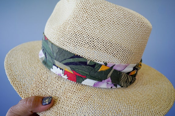 Vintage Straw Panama Hat, Vintage Hat, 1970s Hat,… - image 8