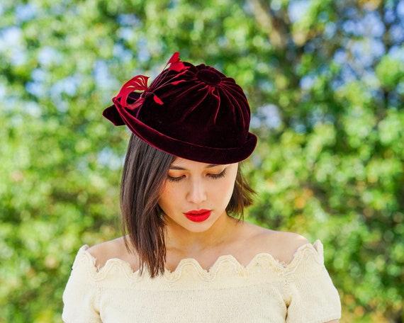 Vintage Feather Half Hat, Vintage Hat, 1950s Hat,