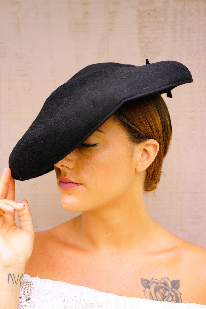 7f537fce66376 Vintage Womens Hat Vintage Hat Vintage Wide Brim Hat