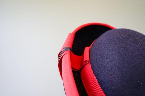 Vintage Wool Felt Breton Hat, Women Bowler Hat, V… - image 6