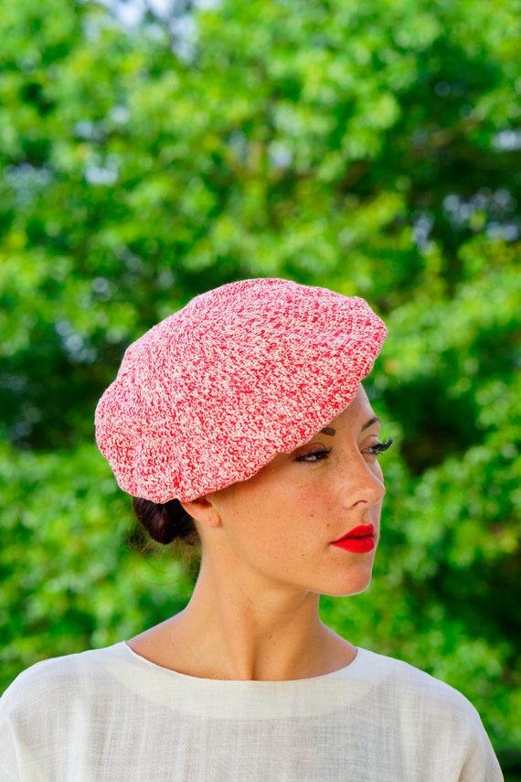 Vintage Beret Hat, Vintage Hat, 1960s Hat, 1970s B