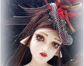 OOAK Art Doll Steampunk Miniature Sculpture Angel fairy WALL decor