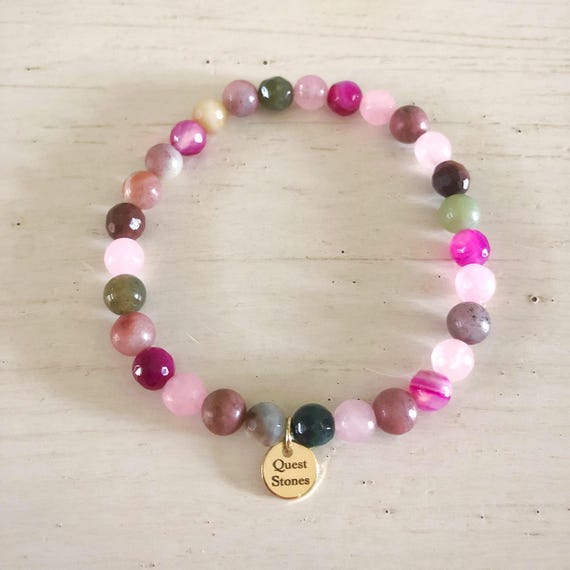 Tiny Colorful Gemstone Bracelet