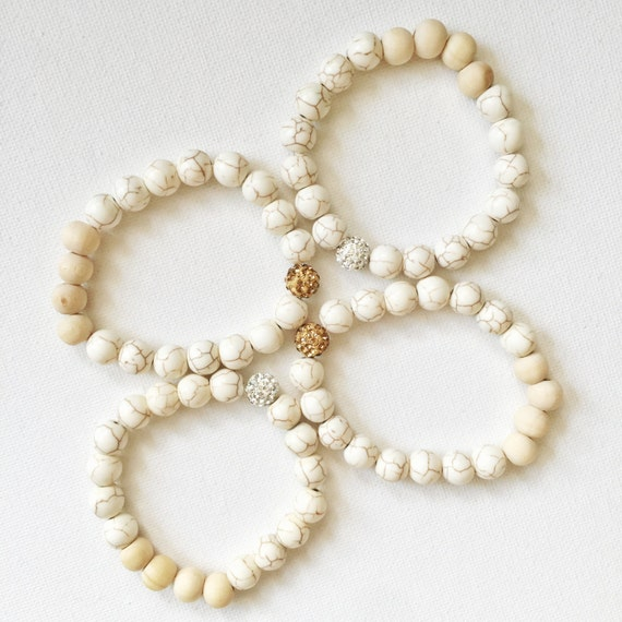 White (gold or silver) Essential Oil Bracelet