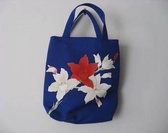 Silk  Obi fabric bag #1