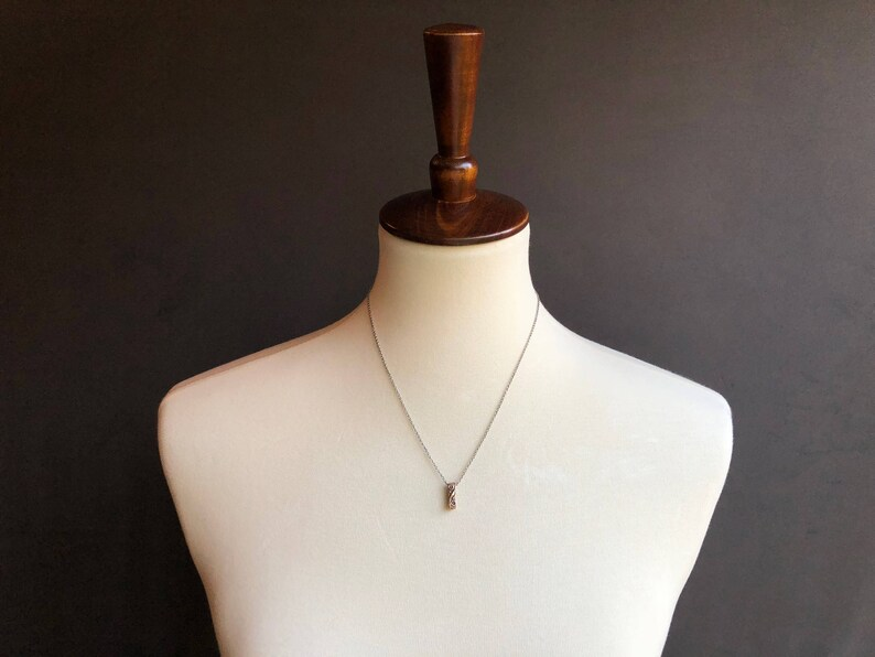 floral charm necklace | Bronze Gather Necklace link necklace READY TO SHIP
