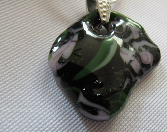 Organic Puddle Glass Pendant