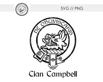 Clan Campbell Seal Crest Emblem / Ne Obliviscaris svg png cut file Silhouette Cricut / Tshirt DTG Print / Custom Clan Emblems available