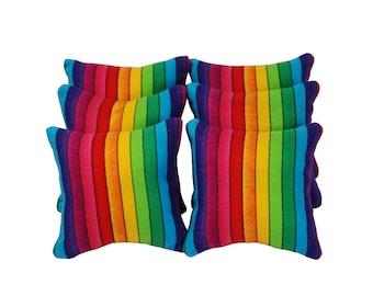 Rainbow Stripe Catnip Pillows (set of 6)