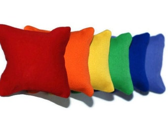 Rainbow Catnip Pillows (set of 6)