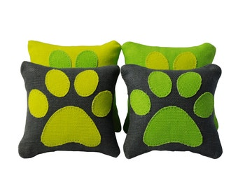 Pawprint Catnip Pillows (set of 4) // Cat Toy // Catnip Toy