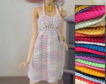Pullip  Clothes | Pullip  Knitted & Crochet Dress | Doll Clothes | Knitted Dress | Crochet Dress | Custom Order | Doll High Fashion