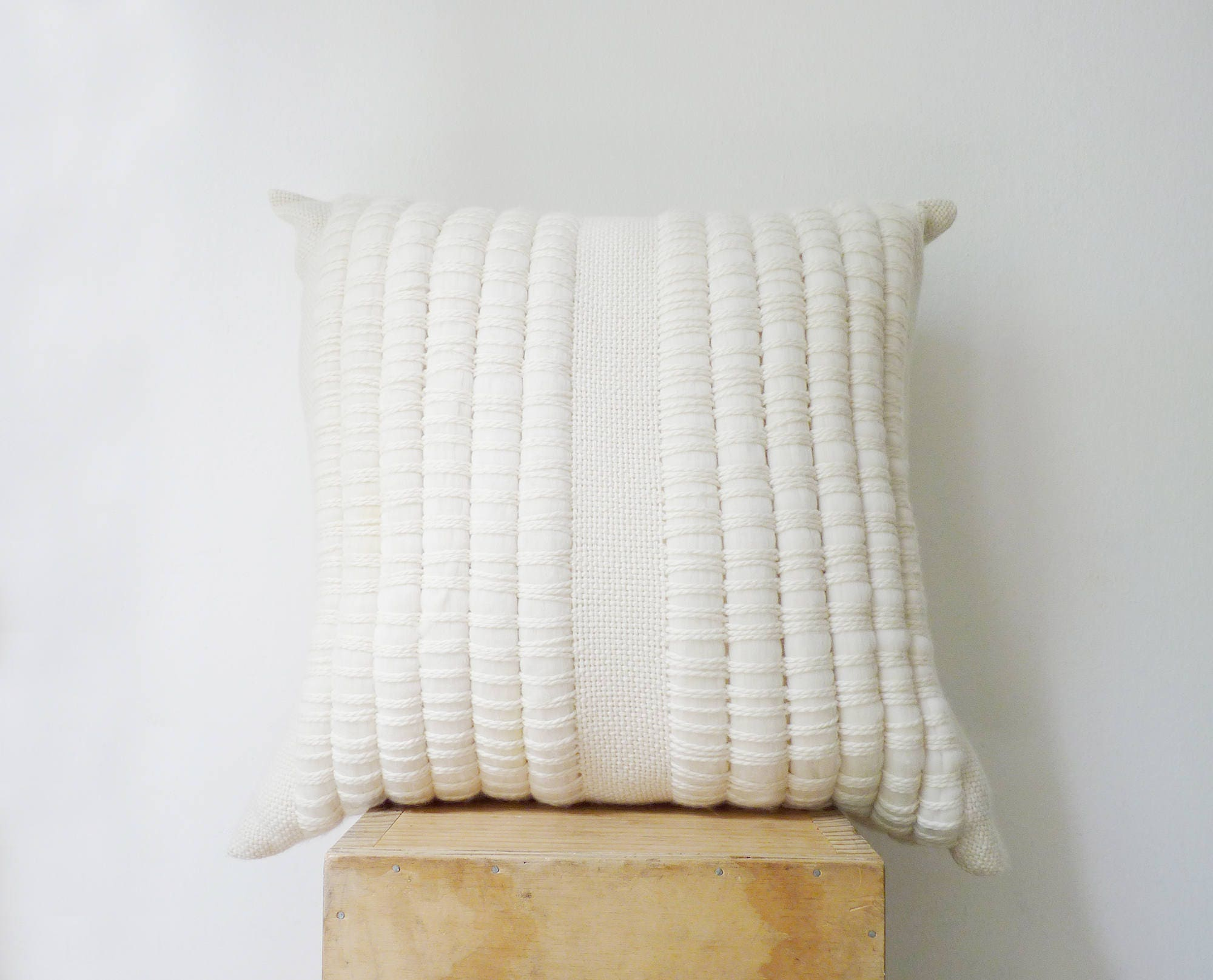 Decorativos almohada almohada tejida de lana tejido