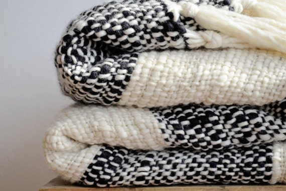 Excellent Merino Wool Sofa Blanket Black And White Throw Blanket Woman Cozy T For Girlfriend Housewarming Home Living Bedding Afghans Gmtry Best Dining Table And Chair Ideas Images Gmtryco