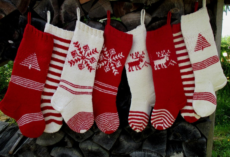 540b23a92dc Knit Christmas Stockings 21-22 Personalized Hand knit